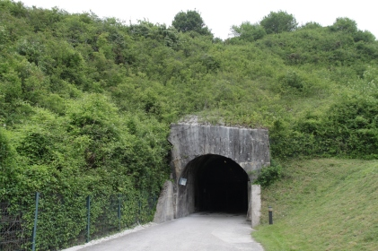 The entrance to the bunker.